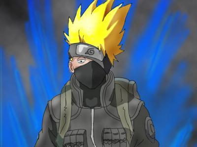 Kakashi Super Sayen (Dragon Ball !) Il a Les Cheveux jaunes Yy641uip
